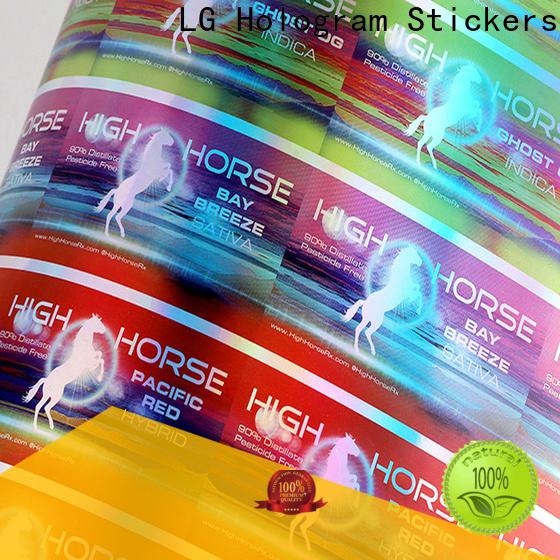 Top holographic vinyl sticker factory