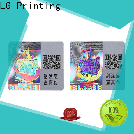LG Printing round hologram stickers price manufacturer for table