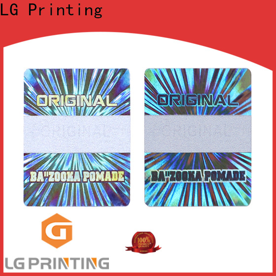 LG Printing silver sticker labels for jars label for table