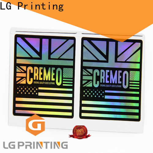 LG Printing Latest custom holographic labels for business