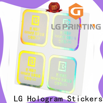 LG Printing Best holographic security stickers company