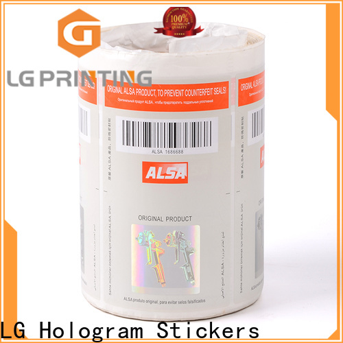positioned security seal stickers counterfeiting supplier for bag