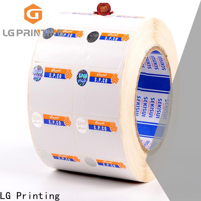 LG Printing standard hot stamping hologram series for bag