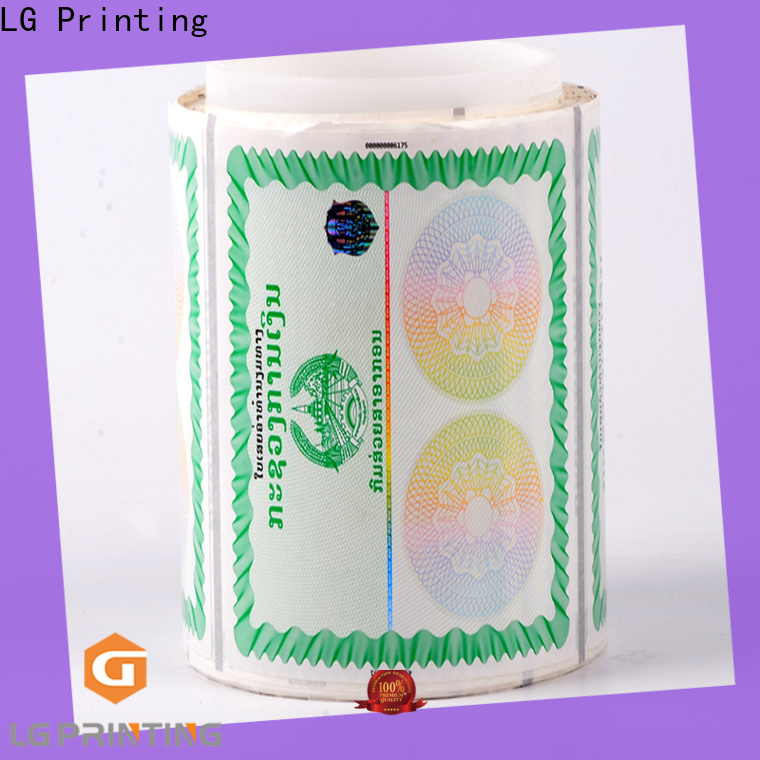 LG Printing security holographic hot stamping foil manufacturer for goods