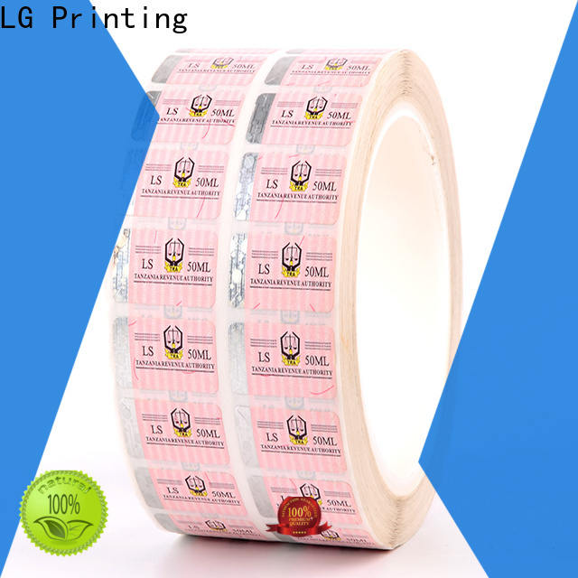 LG Printing serial security company stickers supplier for products