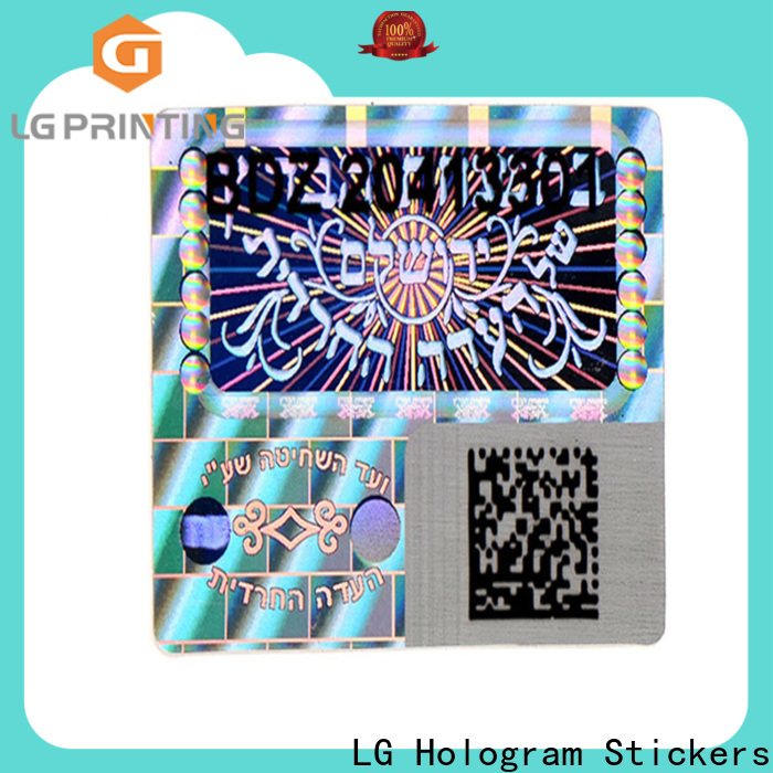 authentic custom security hologram stickers numbering supplier for table