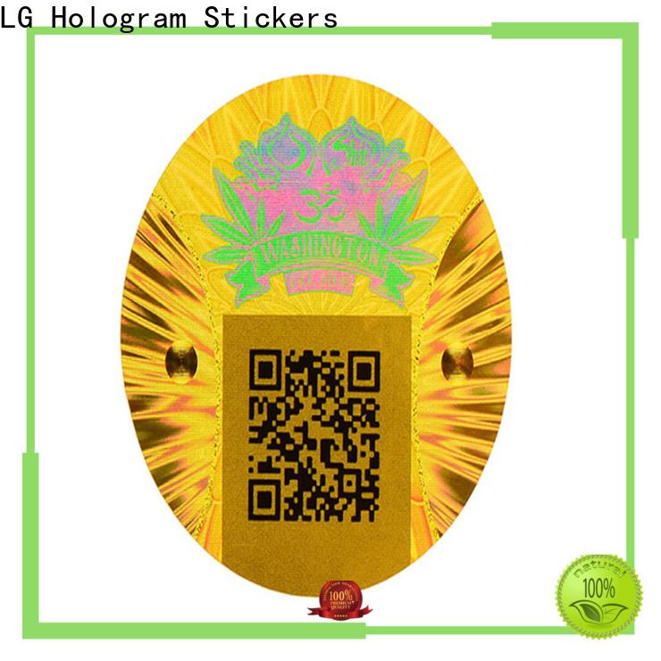 LG Printing gold visa card hologram sticker manufacturer for box