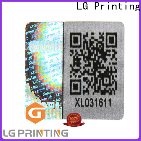 colorful 3d holographic stickers numbering label for box