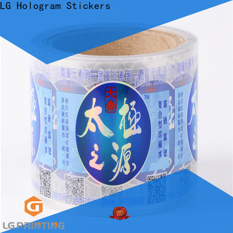 LG Printing bopp custom label printing manufacturer for bottle