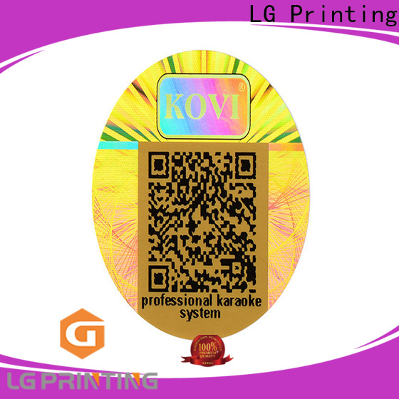 LG Printing void hologram printing machine label for door