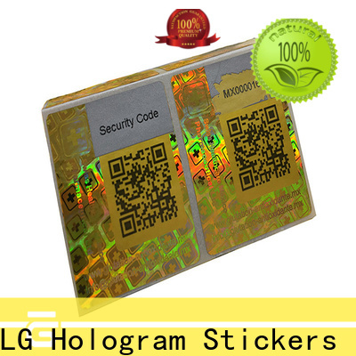 authentic hologramm sticker silver label for door