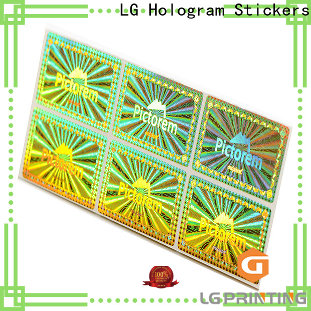 colorful print your own hologram stickers silver supplier for box