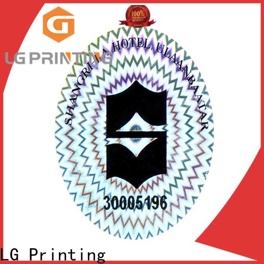 LG Printing scratched clear hologram sticker supplier for table