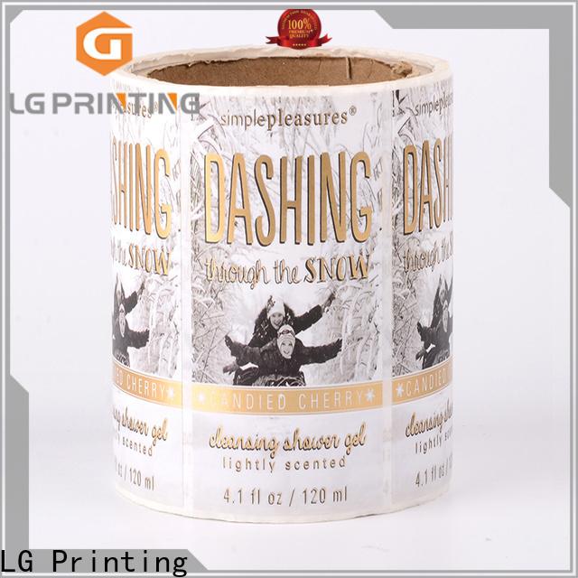 LG Printing foil white water bottle labels factory for wine bottle