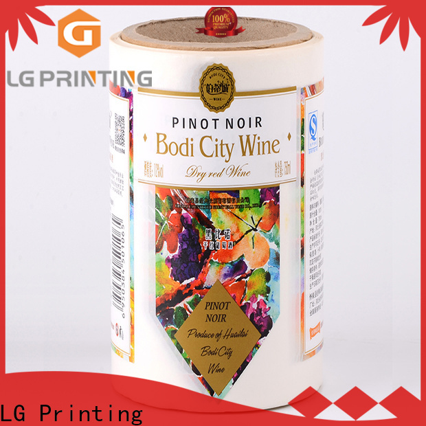 LG Printing metallic plastic bottle labels factory for bottle
