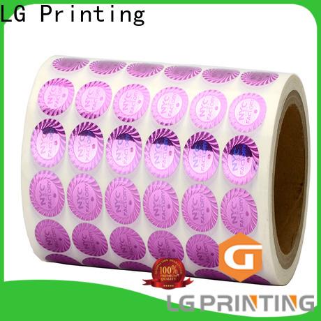 LG Printing off hologram labels stickers logo for refrigerator