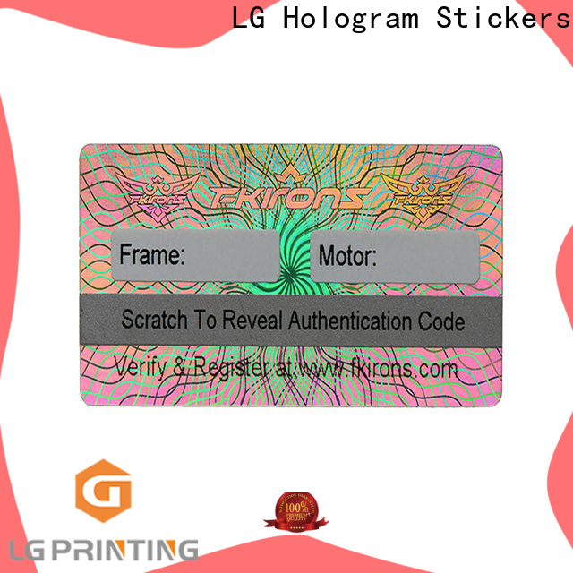 LG Printing colorful holographic sticker maker logo for refrigerator