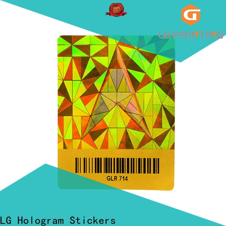 LG Printing various void hologram sticker manufacturer for refrigerator