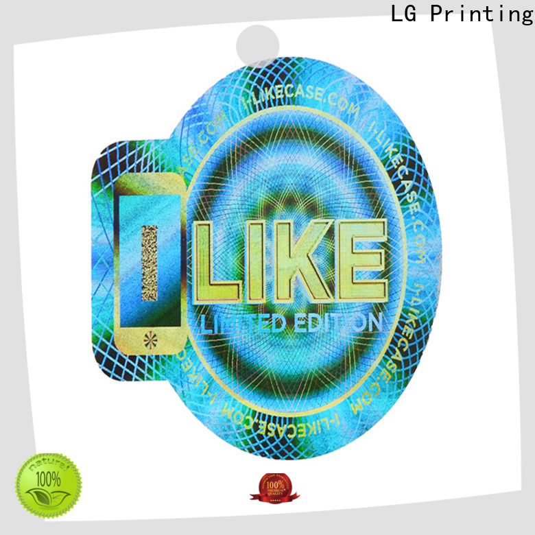 LG Printing round sticker hologram supplier for door