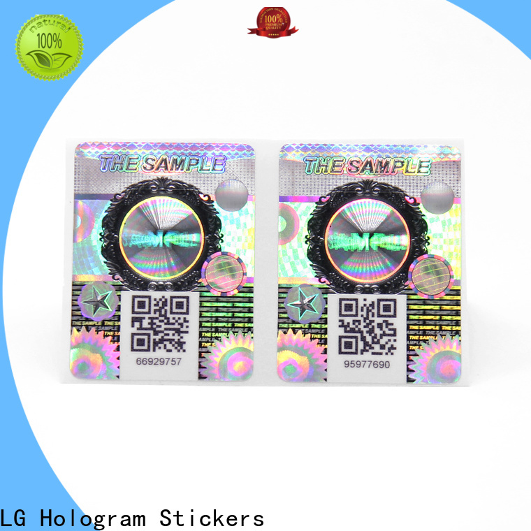 LG Printing Top custom hologram labels factory for box