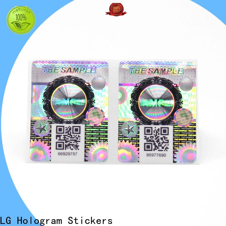 LG Printing Top custom hologram labels factory for box