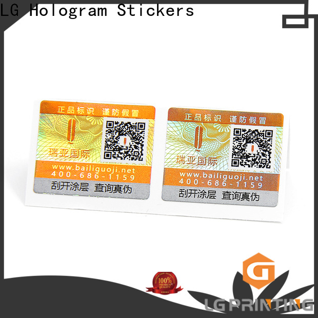 LG Printing security hologram stickers for business for bag