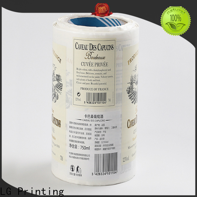 LG Printing gold vinyl stickers for wine bottles factory for jars