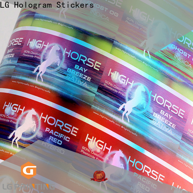 Top personalised holographic stickers for business