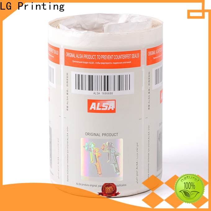 LG Printing fake custom size labels series for goods