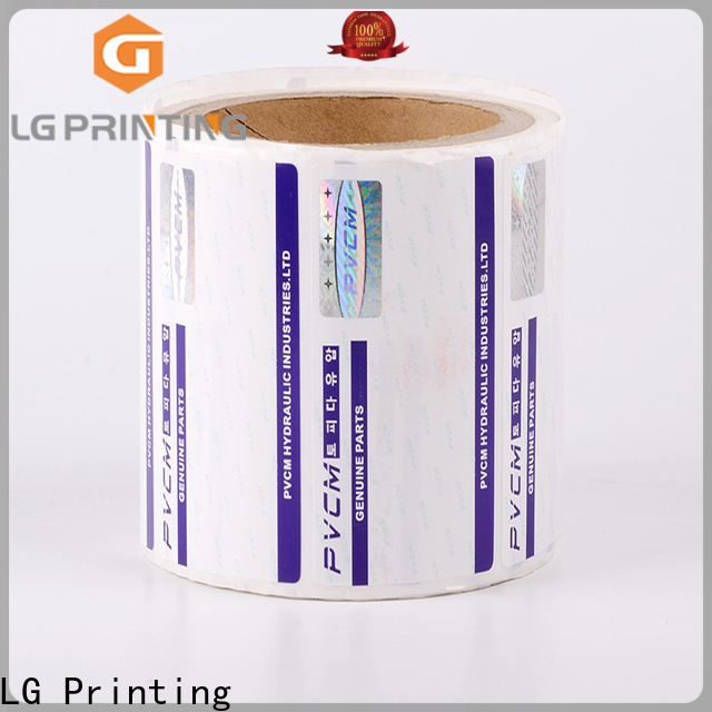 LG Printing printing security labels stickers factory for bag