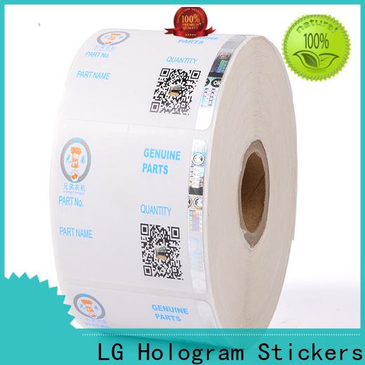 LG Printing anti sticker hologram factory for box
