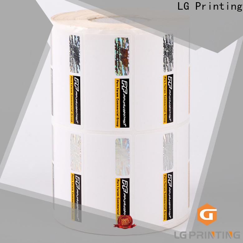 LG Printing 121 hologram security label supplier for bag