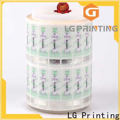LG Printing UV buy security stickers factory for products