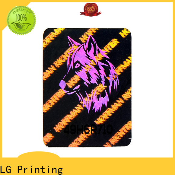 LG Printing round hologram seal stickers supplier for box