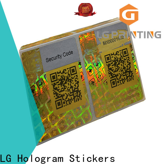 LG Printing various void hologram sticker series for box
