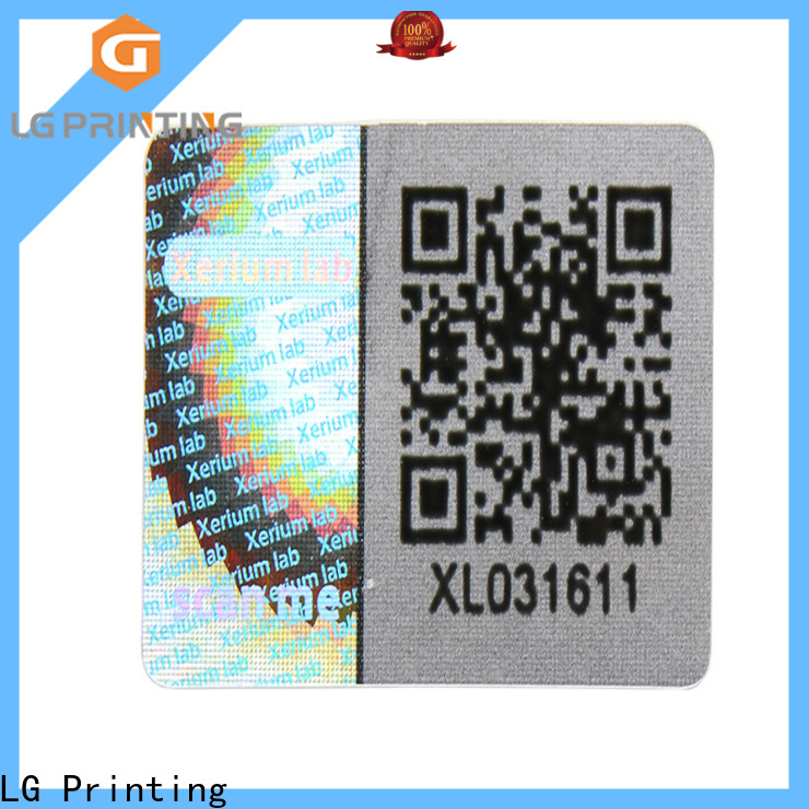 scratched hologram sticker with qr code golden series for box