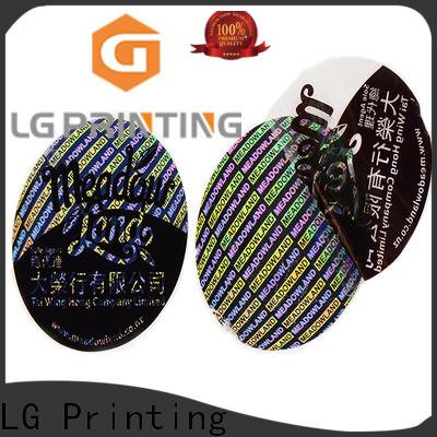 LG Printing scratch making hologram stickers label for box