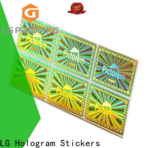 LG Printing golden serial number stickers supplier logo for box