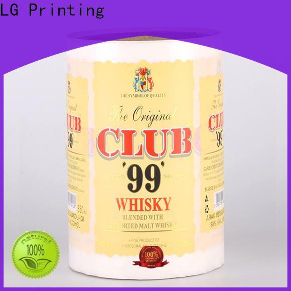 LG Printing transparent packing vs packaging supplier for wine bottle