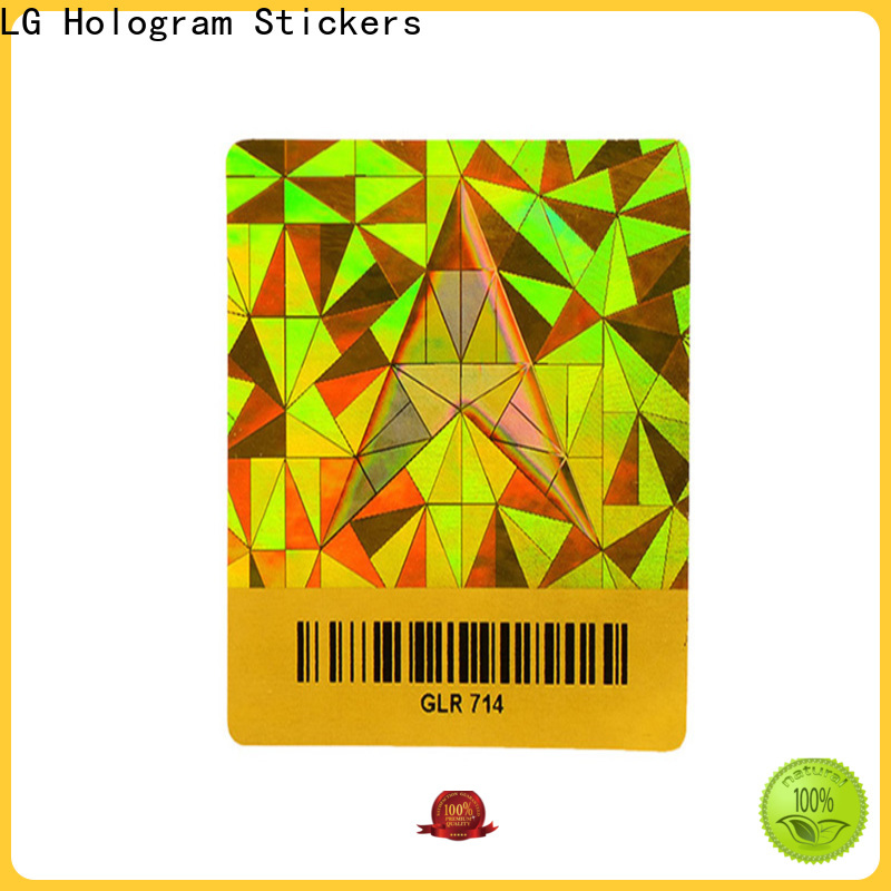 round hologram sticker printing machine bar label for table