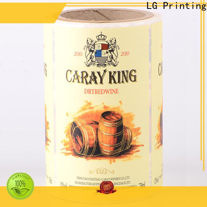 LG Printing red packaging regulations supplier for bottle