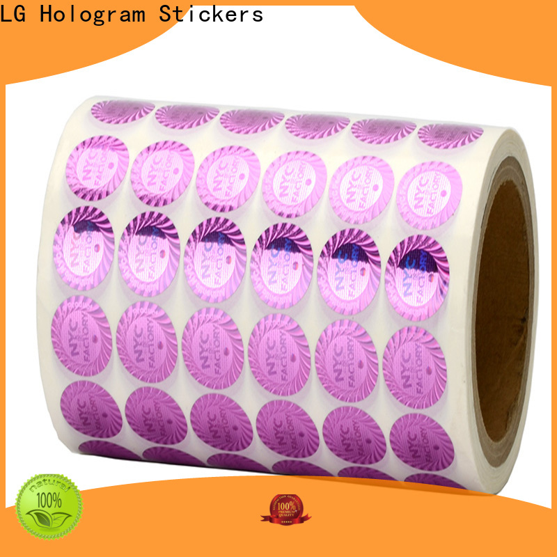 LG Printing authentic holo sticker manufacturer for door