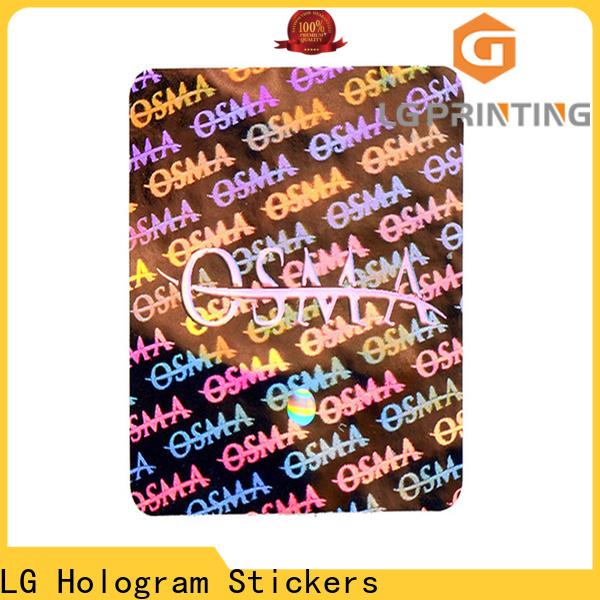 LG Printing code qr code sticker printing label for door
