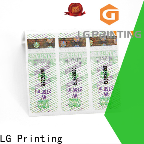 LG Printing holographic security labels Supply for products