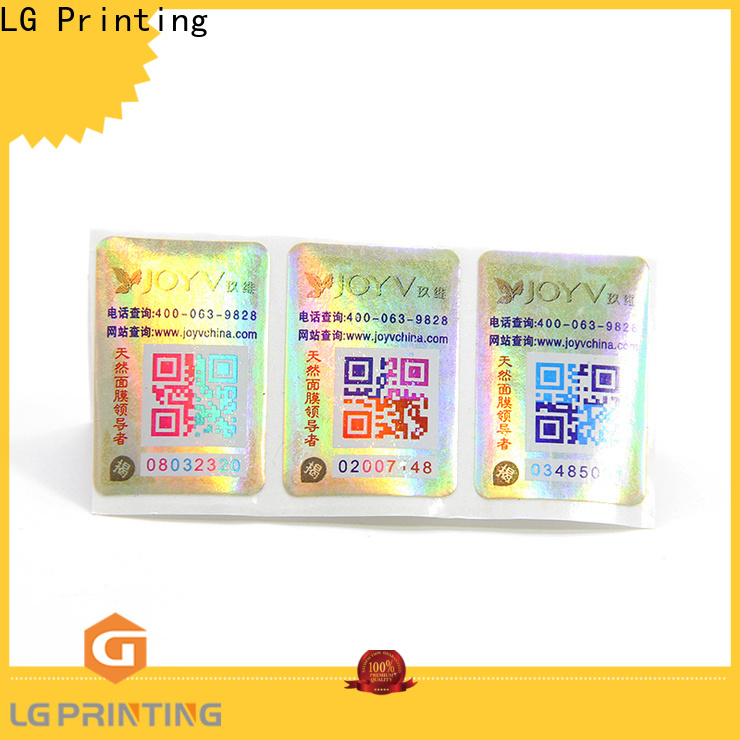 LG Printing Custom brand protection manufacturers for goods