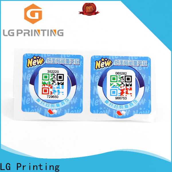 LG Printing anti counterfeit code Suppliers for bag