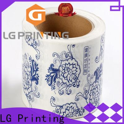 LG Printing pvc custom wine labels manufacturer for jars