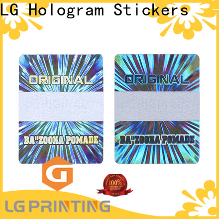 LG Printing scratched print hologram stickers at home label for box