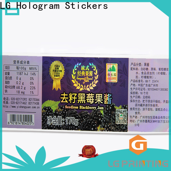 LG Printing High-quality transparent holographic stickers company