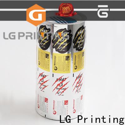 LG Printing foil transparent sticker factory for wine bottle